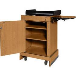 AmpliVox Sound Systems Multimedia Computer Lectern (Medium Oak)
