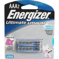 Energizer Ultimate Lithium AAA Batteries (2 Pack)