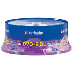 Verbatim DVD+R Double Layer 8.5GB 8x Recordable Disc (Spindle Pack of 30)