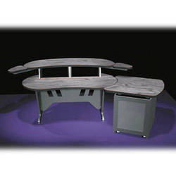 """Middle Atlantic ELUR+S12D-PS 84"""" Edit Center Desk with Overbridge & 12 Space Rack (ELUR+S12D-PS)"""