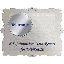 Tektronix D5 Calibration Data Report for WVR6020