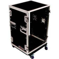Odyssey Innovative Designs Flight Zone 16-Space Amp Rack Casewith Wheels