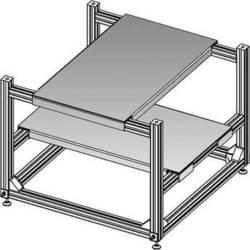 """Da-Lite 21378  3D Projector Stacker (19 x 33.5"""")"""