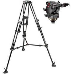 Manfrotto 526,545BK Professional Video Tripod System with 526 Head (Black)
