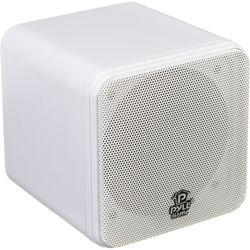 """Pyle Pro PCB4 200W 4"""" Mini Cube Speaker (Pair, White)"""
