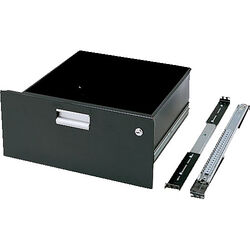 "Winsted 88321 8.75"" Black Utility Drawer w/Lock (Black)"