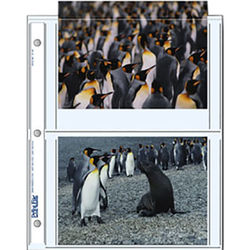 """Print File 57-4P Archival Storage Page for 4 Prints (5 x 7"""", 500-Pack)"""