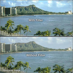 "Tiffen 4 x 5.65"" UV Haze 2A Filter"