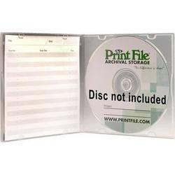 Print File SLPOLY Clear Slimline CD/DVD Case (Pack of 10)