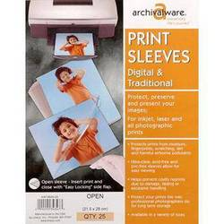 """Lineco Print Sleeves with Locking Side Flap (11x14"""", 25-Pack)"""