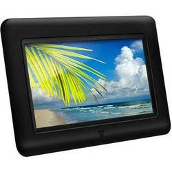 """Aluratek 7"""" Digital Picture Frame with Auto Slideshow Feature (Black)"""