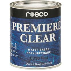 Rosco Premiere Clear Flat Paint (1 Quart / 0.946 liters)