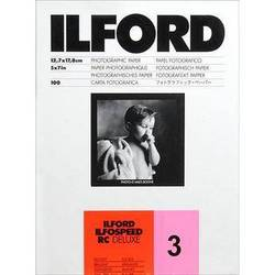 """Ilford ILFOSPEED RC DeLuxe Paper (1M Glossy, Grade 3, 5 x 7"""", 100 Sheets)"""