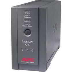 APC Back-UPS CS 500 6-Outlet Backup and Surge Protector, Black (120V)