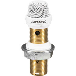 Astatic 2220VPW Continuously Variable Surface Mount Boundary Microphone (White)