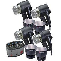 Norman D12R Pack, 4- IL2500 Head/Reflector Kit