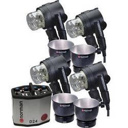 Norman D24 Pack, 4- IL2500 Head/Reflector Kit