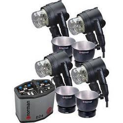 Norman D24R Pack, 4- IL2500 Head/Reflector Kit