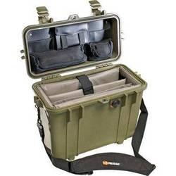 Pelican 1437 Top Loader 1430 Case with Office Divider Set (Olive Drab)