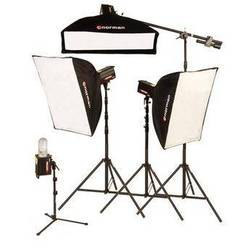 Norman 4 Monolight, 3 Softbox Studio Boom Kit (120VAC)