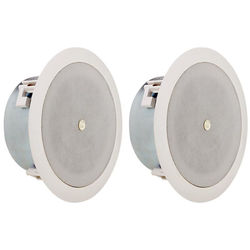 """Atlas Sound FAP42TC-UL2043 - Low Depth 4"""" 70V Ceiling and Wall Mount Speaker (Pair)"""
