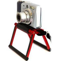 Gary Fong Flip Cage Tabletop Tripod for Compact Cameras (California Poppy Red)
