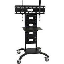 "H. Wilson WPSMS51 Universal Mobile Flat Panel Display Stand (60"" Height, Black)"
