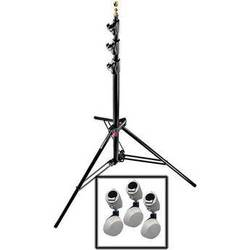Manfrotto 1004BAC/018 QSS Air Cushioned Wheeled Light Stand - 12' (3.6m)