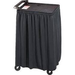 """Draper C168.174 Skirt for Mobile AV Carts and Tables (44x116"""")"""