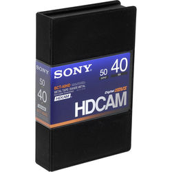 Sony BCT-40HD/2 HDCAM Videocassette, Small
