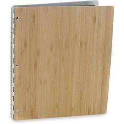 """Pina Zangaro 34617  Bamboo Screwpost Portfolio Cover ONLY (8.5 x 11"""", Amber)"""