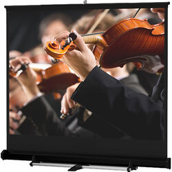Da-Lite 40285 Floor Model C Manual Front Projection Screen (12x12')