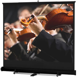 Da-Lite 93897 Floor Model C Portable Manual Front Projection Screen (12x12')
