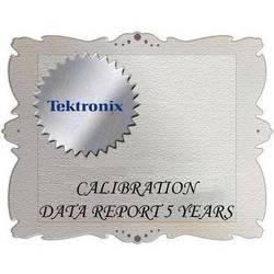 Tektronix D5 Calibration Data Report for WVR7120