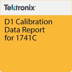 Tektronix D1 Calibration Data Report for 1741C