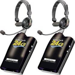 Eartec Simultalk 24G Full-Duplex Wireless Intercom with Slimline Headsets