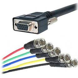 Comprehensive HR Pro Series VGA HD15 Female Jack to 5 BNC Male 6' Cable