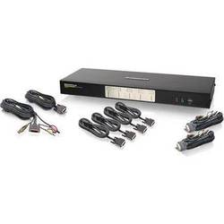 IOGEAR 4-Port Dual View Dual-Link DVI KVMP Switch with Audio
