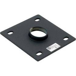 """Chief CMA115  6x6"""" Ceiling Plate with 1.5"""" NPT Opening (Black)"""