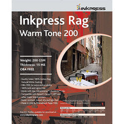 """Inkpress Media Rag Warm Tone 200 Paper (8 x 10"""", 25 Sheets)"""