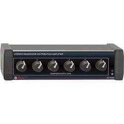 RDL EZ-HDA6 6-Channel Stereo Headphone Distribution Amplifier (Rear Outputs)