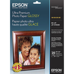 "Epson Ultra Premium Photo Paper Glossy (8 x 10"", 20 Sheets)"