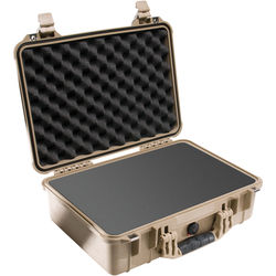 Pelican 1500 Case with Foam (Desert Tan)