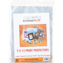 """ClearFile Archival-Plus Print Protector (9x12"""", 25 Pages)"""