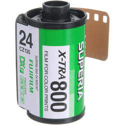 Fujifilm Fujicolor Superia X-TRA 800 Color Negative Film (35mm Roll Film, 24 Exposures)