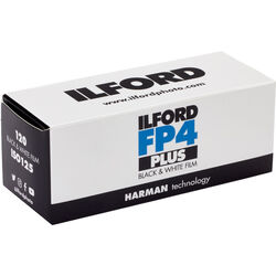 Ilford FP4 Plus Black and White Negative Film (120 Roll Film)
