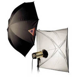 """Photoflex Umbrella with Adjustable Ribs - White with Black Backing - 30"""""""