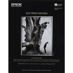 """Epson Hot Press Natural Paper (13 x 19"""", 25 Sheets)"""