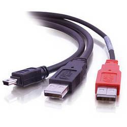 C2G USB Mini-B Male to 2x USB Type-A Male Y-Cable (6')