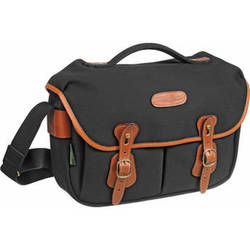 Billingham Hadley ProShoulder Bag (Black Canvas & Tan Leather)